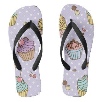 Retro Sweets Pattern Flip Flops