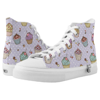 Retro Sweets Pattern High Tops