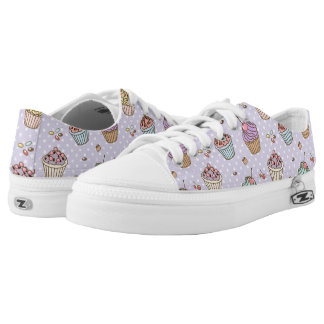 Retro Sweets Pattern Low Tops