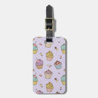 Retro Sweets Pattern Luggage Tag