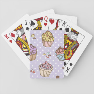 Retro Sweets Pattern Playing Cards