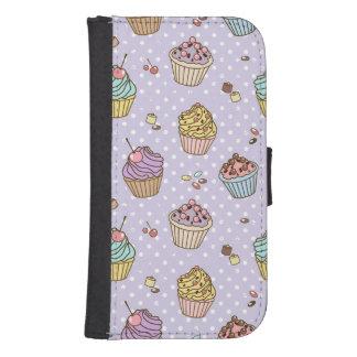 Retro Sweets Pattern Samsung S4 Wallet Case