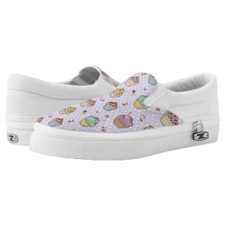Retro Sweets Pattern Slip-On Shoes