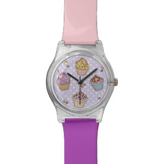Retro Sweets Pattern Wrist Watch