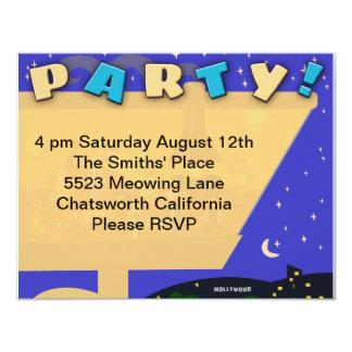 Retro Swinging Sixties Jet Set Party 4.25x5.5 Paper Invitation Card