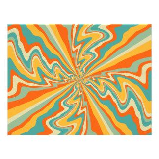 Retro swirl abstract design 21.5 cm x 28 cm flyer