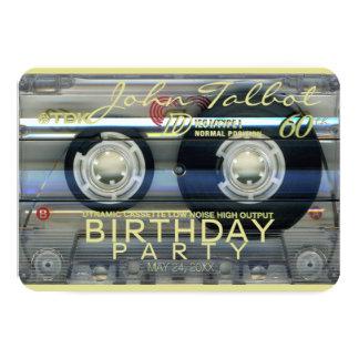 Retro T2 Audiotape 60th birthday Party Invitation