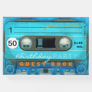 Retro T4 Audiotape 50th birthday Guest Book