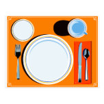 Retro Table Setting Post Cards