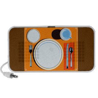Retro Table Setting Notebook Speaker