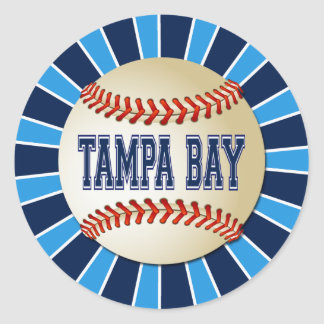 RETRO TAMPA BAY BASEBALL CLASSIC ROUND STICKER