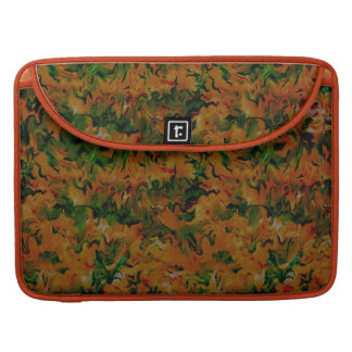 Retro Tangerine Green Macbook Pro Flap Sleeve MacBook Pro Sleeve