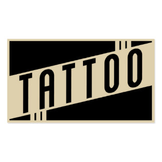 retro tattoo business cards