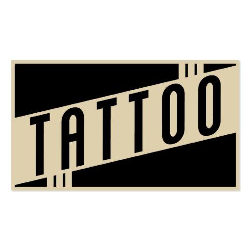 retro tattoo business cards