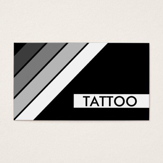 retro TATTOO stripes Business Card