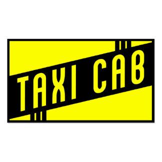 retro taxi cab business cards