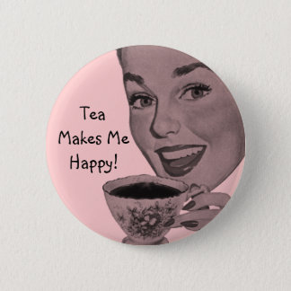 Retro Tea 6 Cm Round Badge