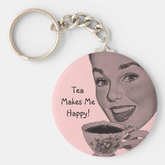 Retro Tea Key Ring