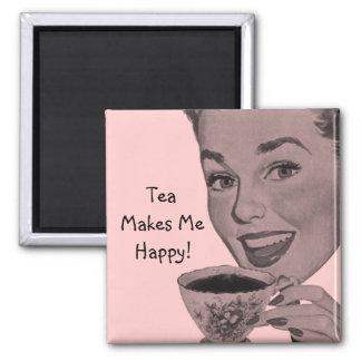 Retro Tea Magnet