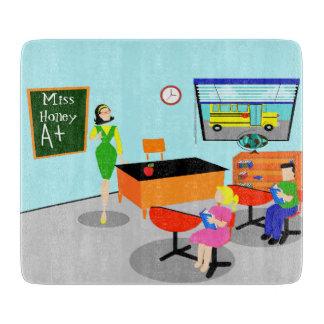 Retro Teacher Cutting Board
