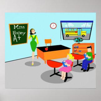 Retro Teacher Poster