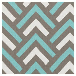 Retro Teal Blue Chevron Stripes Pattern