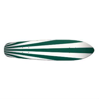 Retro Teal green Sun Rays Background Custom Skate Board