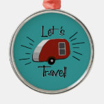 Retro Teardrop Camper Ornament
