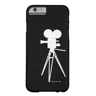 Retro Technicolor Movie Camera Silhouette Barely There iPhone 6 Case