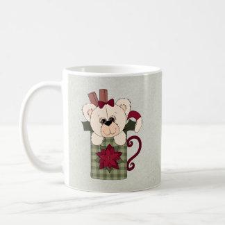 Retro Teddy Bear Christmas Coffee Mug
