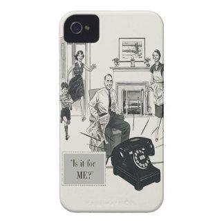 Retro Telephone Ad Family Midcentury Modern iPhone 4 Case