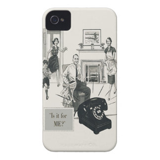 Retro Telephone Ad Family Midcentury Modern iPhone 4 Case-Mate Case