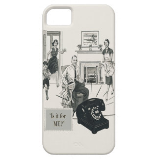 Retro Telephone Ad Family Midcentury Modern iPhone 5 Cover