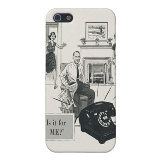 Retro Telephone Ad Family Midcentury Modern iPhone 5 Covers