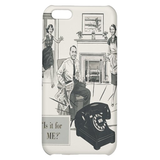 Retro Telephone Ad Family Midcentury Modern iPhone 5C Covers