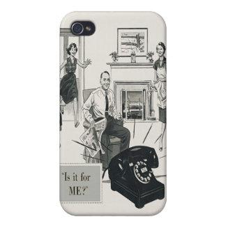 Retro Telephone Ad Family Midcentury Modern iPhone 4/4S Cases