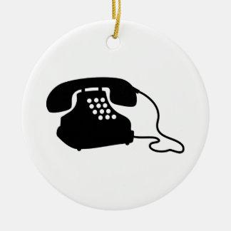 Retro Telephone Christmas Ornament