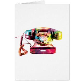 Retro Telephone Greeting Card