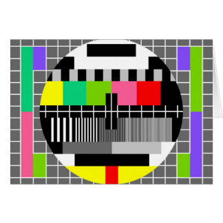 'Retro television' greeting card