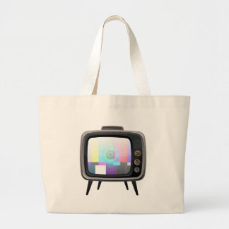 Retro Television Jumbo Tote Bag