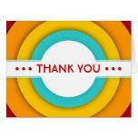 retro THANK YOU Big Greeting Card