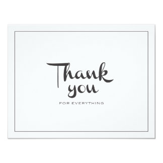 Retro Thank You Double-Sided 11 Cm X 14 Cm Invitation Card
