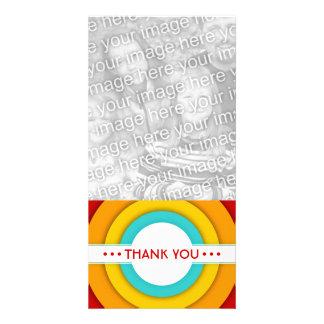 retro THANK YOU Photo Card Template