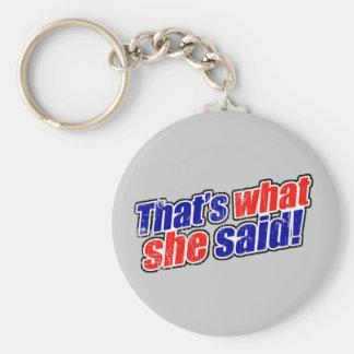 Retro That s What She Said Key Chain