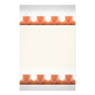 Retro Theatre Bulb Border Sign Personalised Stationery