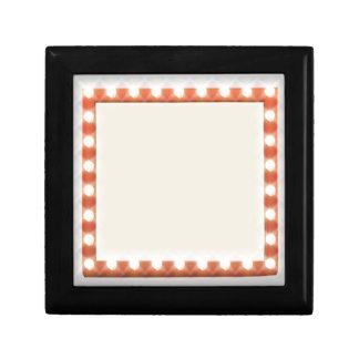 Retro Theatre Bulb Sign Small Square Gift Box