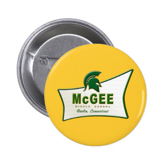 Retro Themed McGee Logo #1 6 Cm Round Badge