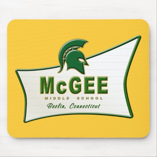 Retro Themed McGee Logo #1 Mouse Pad