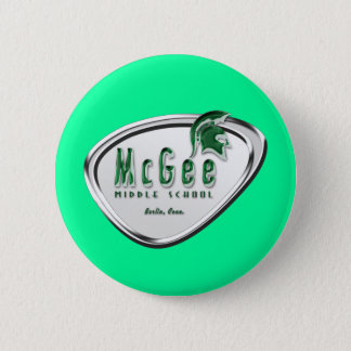 Retro Themed McGee Logo #2 6 Cm Round Badge