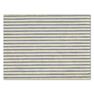 Retro Ticking Blue & White Striped Vintage French Tissue Paper